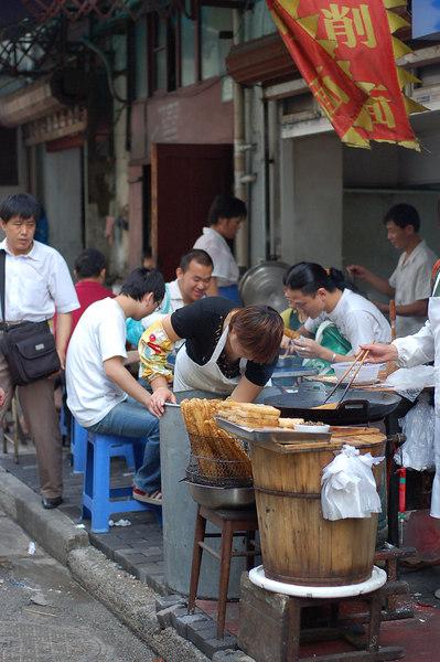 Breakfast at street restaurants