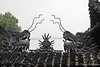 Dragons on roof of Yu Garden building