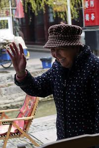 Sweet dumpling vendor in  Zhujiajiao, China.