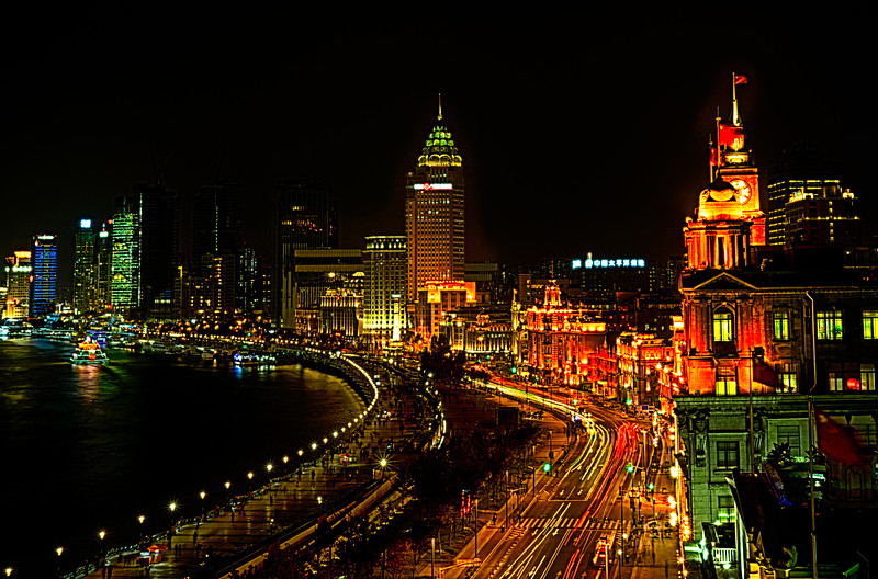 the Bund, looking south from the Peace Hotel