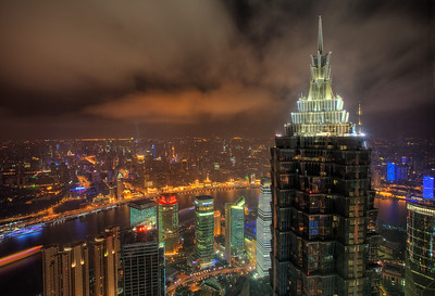 Shanghai as seen from its tallest building!