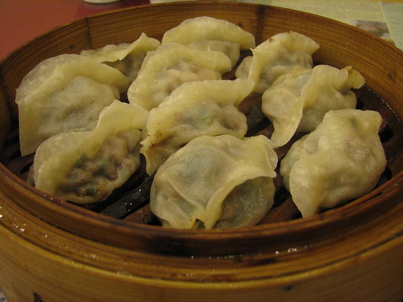 煸饹蒸饺 - dumplings with meat and vegetables at Lao Bian Jiaozi Guan, Shenyang's most famous dumpling restaurant. The filling was very rich.