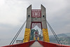 Suspension Bridge leading to the Shibaozhai Pagoda