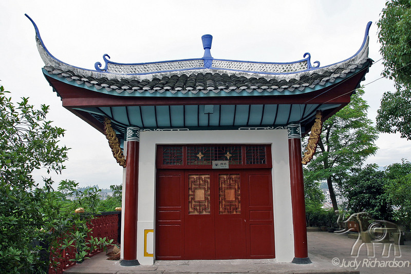 Building on Shibaozhai Pagoda grounds