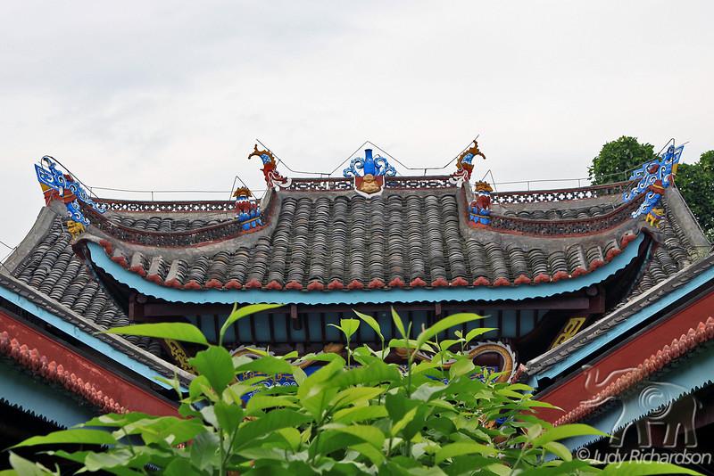 Roof details on Shibaozhai Pagoda