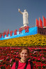 Emilie with Mao statue