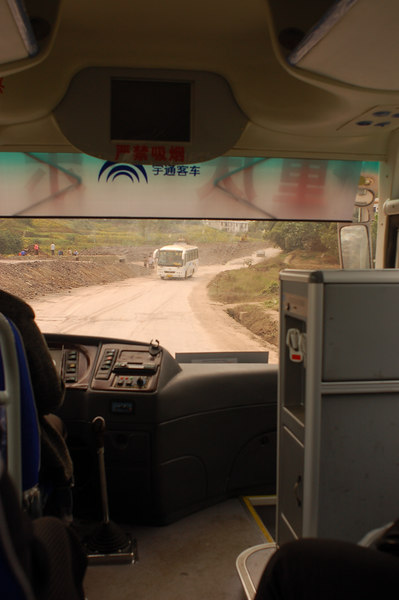 Bumpy busride to Leshan