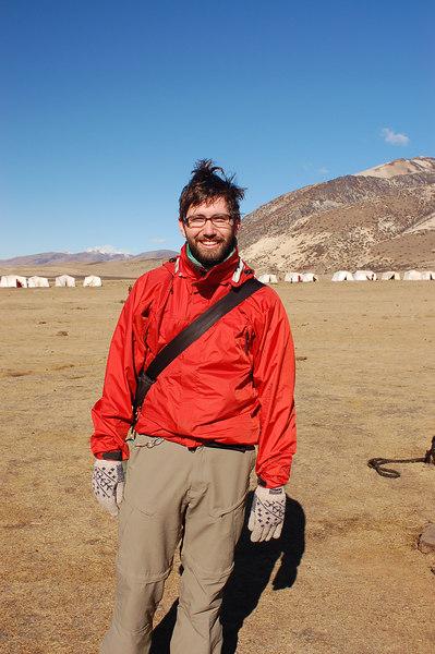 Photo of Yann taken by monks