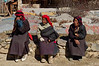Three Tibetan women having a sit