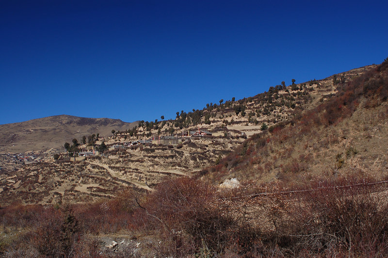 Approaching Tibetan villages