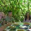 In the middle of a day in the desert, we had a pleasant lunch under the arbor at a local farm.