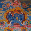This is another large thangka from the Bingling monastery, again about 10 feet high.