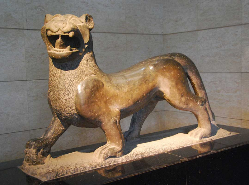 This is a lifesize stone tiger from the Eastern Han Dynasty (1st-2nd centery AD).  Forest of Stelae Museum in Xi'an.