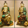 "Artists of the Tang Dynasty (618-907 AD) developed a style of glazed porcelain now called ""Tang Tri-Color"" that used green, yellow, and brown glazes.  Buddhas and animals were popular subjects.  These two Buddhas, about 18 inches high, are in the Shaanxi Provincial Museum in Xi'an."