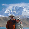 "Curt and Ann at the high point of our trip: Karakul (Black Lake in Uygher), elevation 3,500 m or 11,480 feet, with  Mustagh Ata in the background.  We took our first long trip together in 1977, and this was one of our best trips ever.<br /> <br /> Curt took over 1,000 more photos, but this is enough to give you an idea of what you see along the Chinese part of the Silk Road.  As Ann says, ""Western China is as beautiful as the southwest US, but ten times larger.""  You missed a fantastic trip.  Next time, take our advice and come with us when we go on a big adventure."
