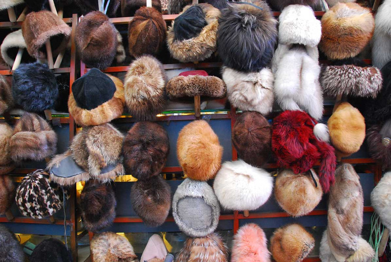 Need a new fur hat to get you through the winter?  The Kashgar bazaar has plenty, and no one will criticize you for wearing endangered species on your head.