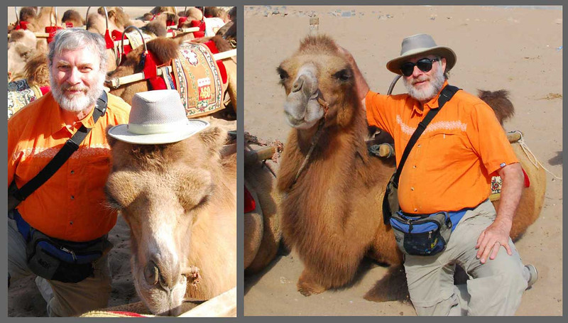 Curt named his camel Osama (aka, number 028).  Osama was quite a handsome guy with red hair and a gentle disposition.  Here we are taking a break before continuing onward to the next oasis.