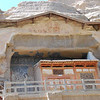 Here is a grotto at Mogao that has been exposed by erosion of the cliff face, so I could photograph what is left of the back wall.
