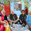 Here we are having tea with the head monk.  We all donated generously to the monastery--stiffing the head monk would probably not be good for your karma.