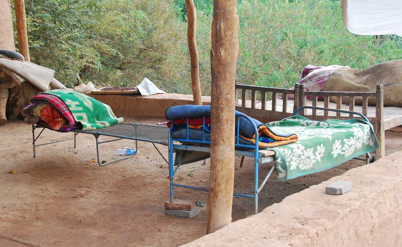 In Uyghur villages everyone sleeps outside, usually on the roof, during the summer to escape the desert heat.