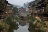 Dong village scene with Ganian (wooden pillar) houses, Zhaoxing Dong village, Guizhou Province, China
