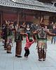 Exuberant little girl<br /> <br /> Dong dancers, Zhaoxing Dong village, Guizhou Province, China