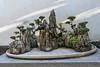 Mountain-landscape-bonsai,-Zhu-Weiqing-house,-Jianshiu-Ancient-Town,-Yunnan-Province,-China