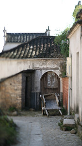 Cart, Hong Village, near Huangshan, China