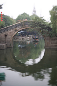Bridge and Watercab, Zhou Zhuang Watertown, China
