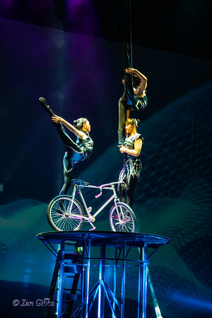 3 Acrobats Sharing a Bicycle
