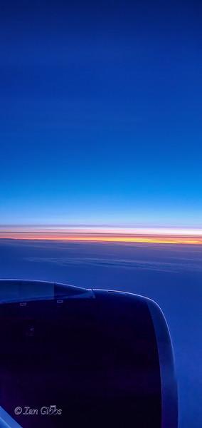 Jet Engine in Sunset