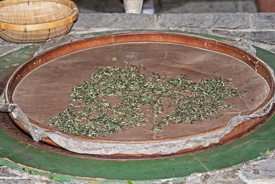 Dried tea leaves, Guilin, China