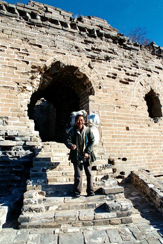 The Great Wall at Simatai, local Mongolian farmer on his way home