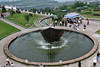 Fountain at 3 Gorges Dam site taken from the constructed view point above the museum and dam