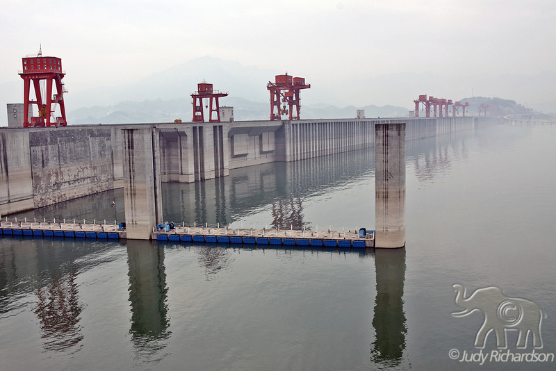 Water behind 3 Gorges Dam