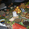 A close-up view of the elaborate spread at one of the homes.  We really got stuffed that day!