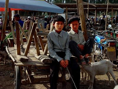 Sheep tender boys at Kashgar Bazaar DSC01826
