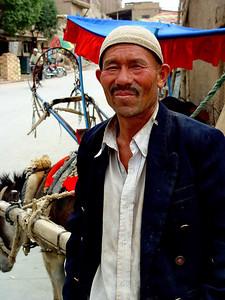 Donkey cart driver Old Kashgar DSC01626