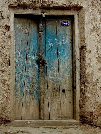 Blue door Old Kashgar DSC01656