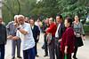 A Chinese man demonstrating Tai Chi in Xing Qing Park in Xian, China, Asia.