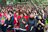 Chinese group singing in Xing Qing Park in Xian, China, Asia.
