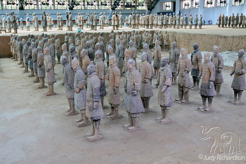 Terracotta Warriors on different levels.