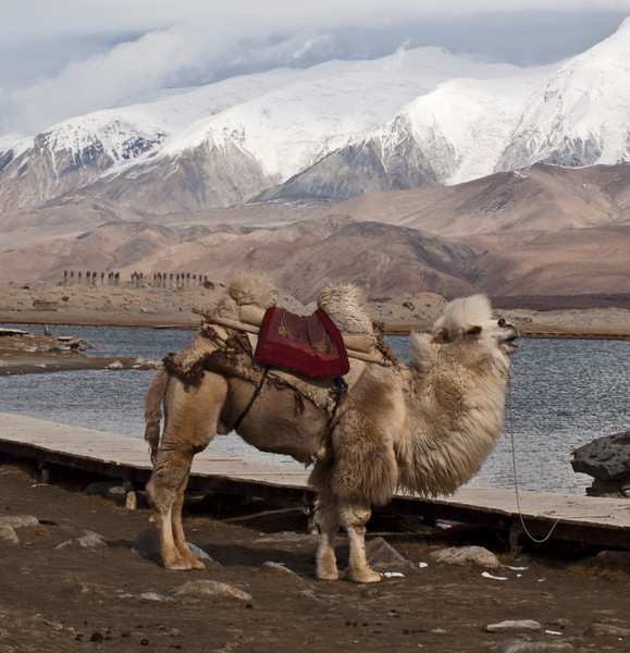 Karakul Lake on the  Karakoram Highway which follows the ancient Silk Route into Pakistan