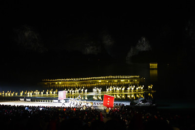 A better idea of the sheer size of the outdoor theatre for the Impression light show in Yangshuo.