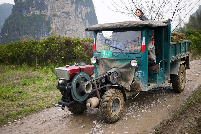 Farm truck in rural China
