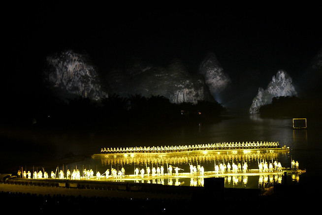 The Liu Sanjie light show in Yangshuo, China