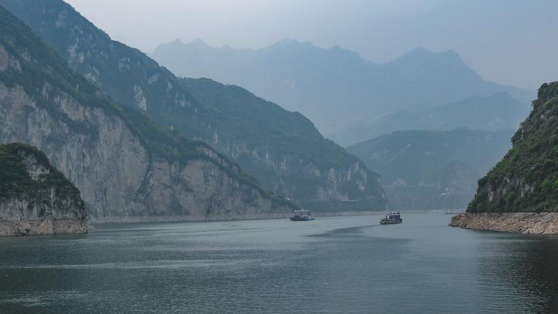 Barges on Yangtze River