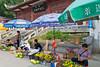 The street market at Sandouping, along the Yangtze river, China, Asia.
