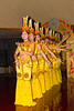 Ethnic Chinese dancers perform a cultural show on the Empress Victoria riverboat on the Yangtze River, China.