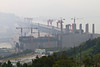 The Three Gorges Dam at Sandouping, China, Asia.